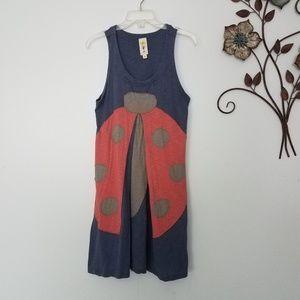 Modcloth Heel Athens Lab Ladybug Dress M